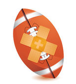 Football band aid fix solution concept — Stock Photo