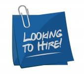 Looking to hire memo post concept — Stock Photo