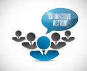 Corrective action team sign illustration design — Stock Photo