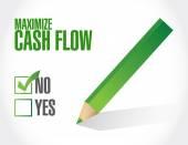 No maximize cash flow illustration design — Fotografia Stock