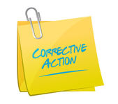 Corrective action memo post sign — Stock Photo