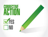 Corrective action check mark illustration design — Stock Photo