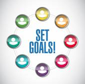 Set goals people diagram sign concept — Stock Photo