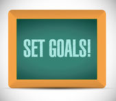 Set goals board sign concept illustration design — Stock Photo