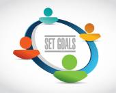 Set goals business team sign concept — Stock Photo