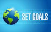 Set goals globe sign concept illustration design — Stock Photo
