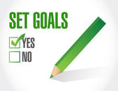 Set goals check mark sign concept illustration — Stock Photo