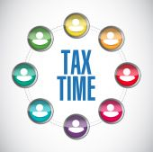 Tax time business sign concept illustration design — Stock Photo
