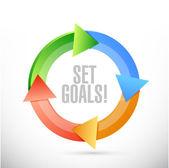 Set goals check sign concept illustration design — Stock Photo