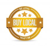 Be loyal buy local seal sign illustration — Stock Photo