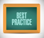 Best practice board sign concept — Stock Photo