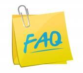 Faq memo post sign illustration design — Stockfoto