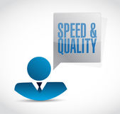Speed and quality avatar sign illustration design — Stock Photo