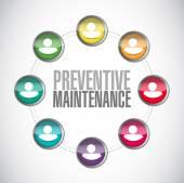 Preventive maintenance people diagram sign concept — Stock Photo