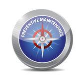 Preventive maintenance compass sign concept — Stock Photo