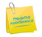 Preventive maintenance memo post sign concept — Stock Photo