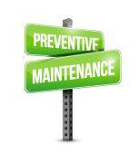 Preventive maintenance street sign — Stock Photo