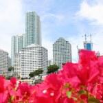 Miami, Florida skyline from Brickell Key. USA — Stock Photo #70218291