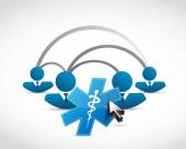 People network and medical symbol concept — Stock Photo