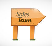 Sales team wood sign concept — Stock Photo