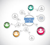 Inventory control people diagram sign concept — Stockfoto