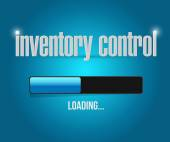 Inventory control loading bar sign concept — Stock Photo