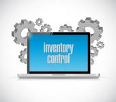 Inventory control tech computer sign concept — Stock Photo