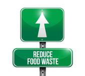 Zmniejszenie koncepcji znak drogowy odpadów żywności — Zdjęcie stockowe