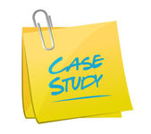 Case study memo sign concept illustration — Stock Photo