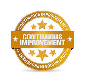 Continuous improvement seal sign concept — Stock Photo