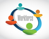 Workforce team sign concept illustration — Stock Photo