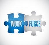 Workforce puzzle pieces concept — Stock Photo