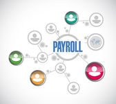 Payroll network sign concept illustration — Stock Photo