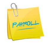 Payroll memo post sign concept illustration — Stock Photo