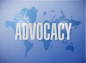 Advocacy world sign concept illustration — Stock Photo