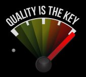 Quality is the key sign concept — Stock Photo