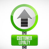 Customer loyalty up graph sign concept — Stock Photo