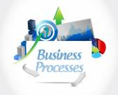 Business processes chats sign concept — Stock Photo