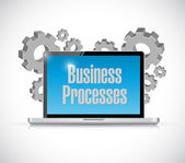 Business processes tech computer sign concept — Stock Photo