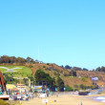Viña del Mar and Reñaca, Chile, beach view — Stock Photo #76284835