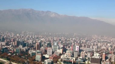 Chile capital Santiago Skyline Timelapse. andes mountains — Stock Video