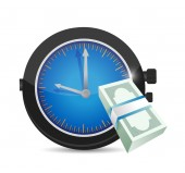 Watch and money illustration design — Stock Photo