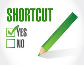 Shortcut selection sign concept illustration — Stock Photo