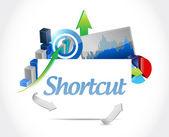 Shortcut business graphs sign concept — Stock Photo