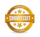 Shortcut seal sign concept illustration — Stock Photo