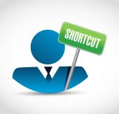 Shortcut avatar icon sign concept — Stock Photo