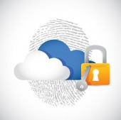 Cloud computing secure technology concept — Stock Photo