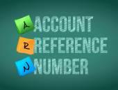 Referentie nummer post memo schoolbord teken van de rekening — Stockfoto