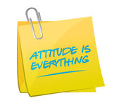 Attitude is everything post message — Stock Photo