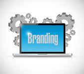 Branding technology computer sign concept — Stock Photo